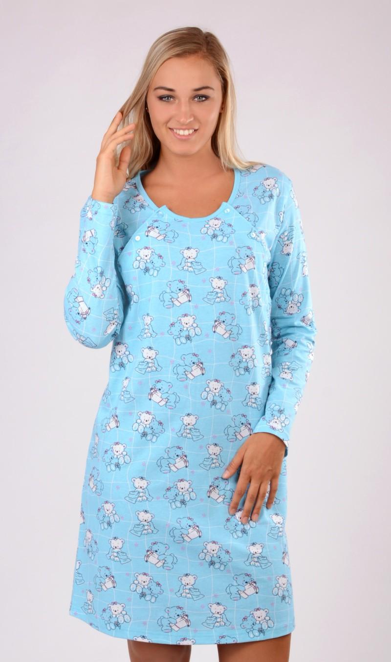 2e5747bada7 Dámská noční košile mateřská dlouhý rukáv Vienetta Secret Malí ...
