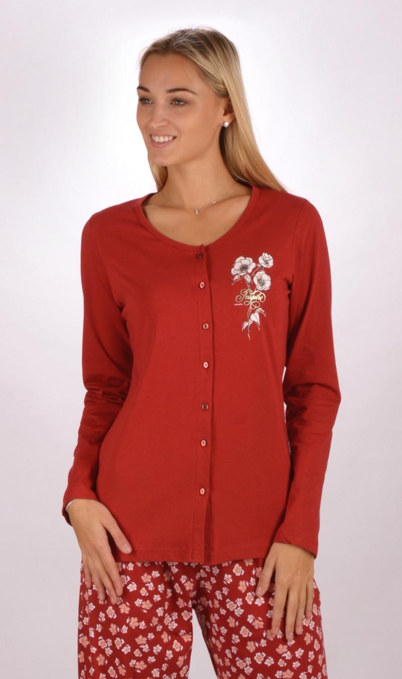 d800410dc7c Dámské pyžamo dlouhé Sandra - Vienetta Secret (Dámské pyžama ...