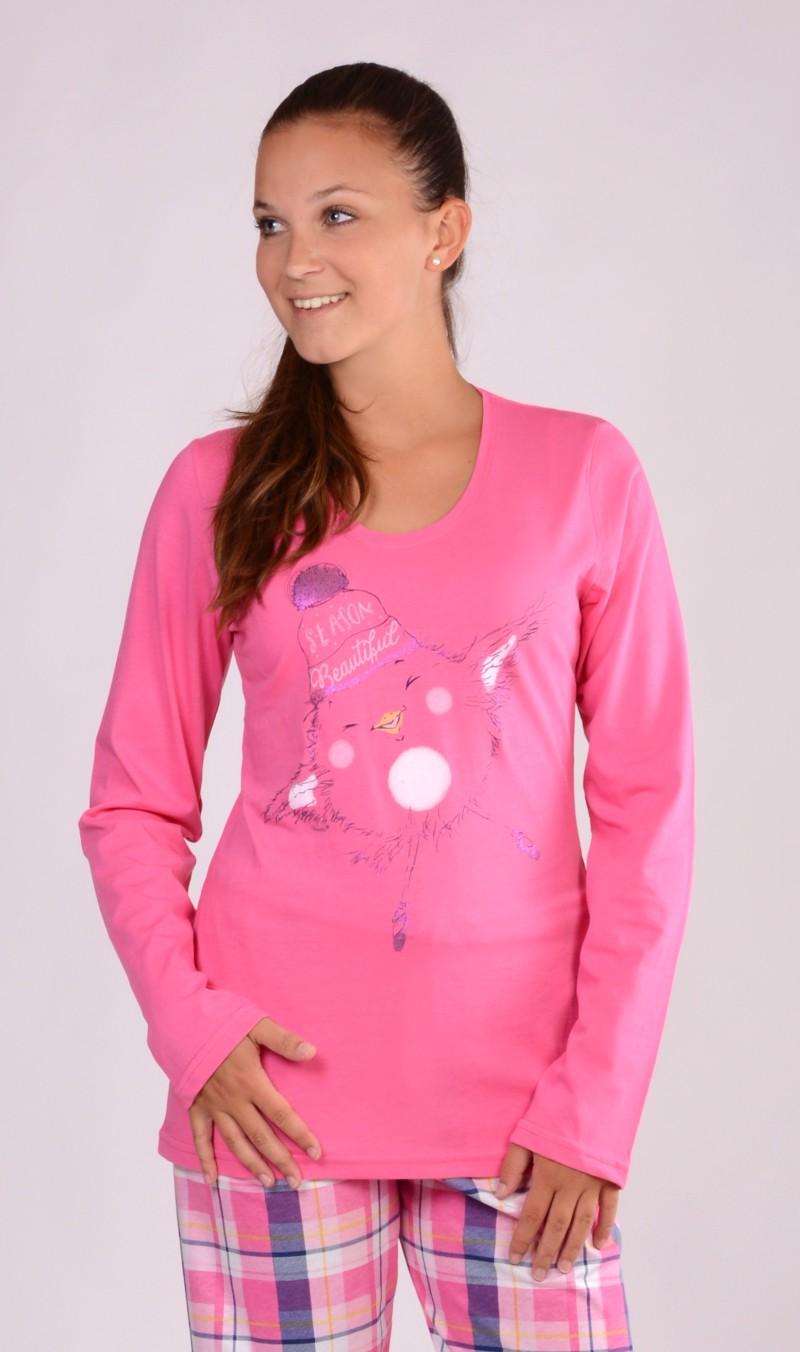 d442f6ba7b6 Dámské pyžamo dlouhé Vienetta Secret Kuře s čepicí - Vienetta Secret ...