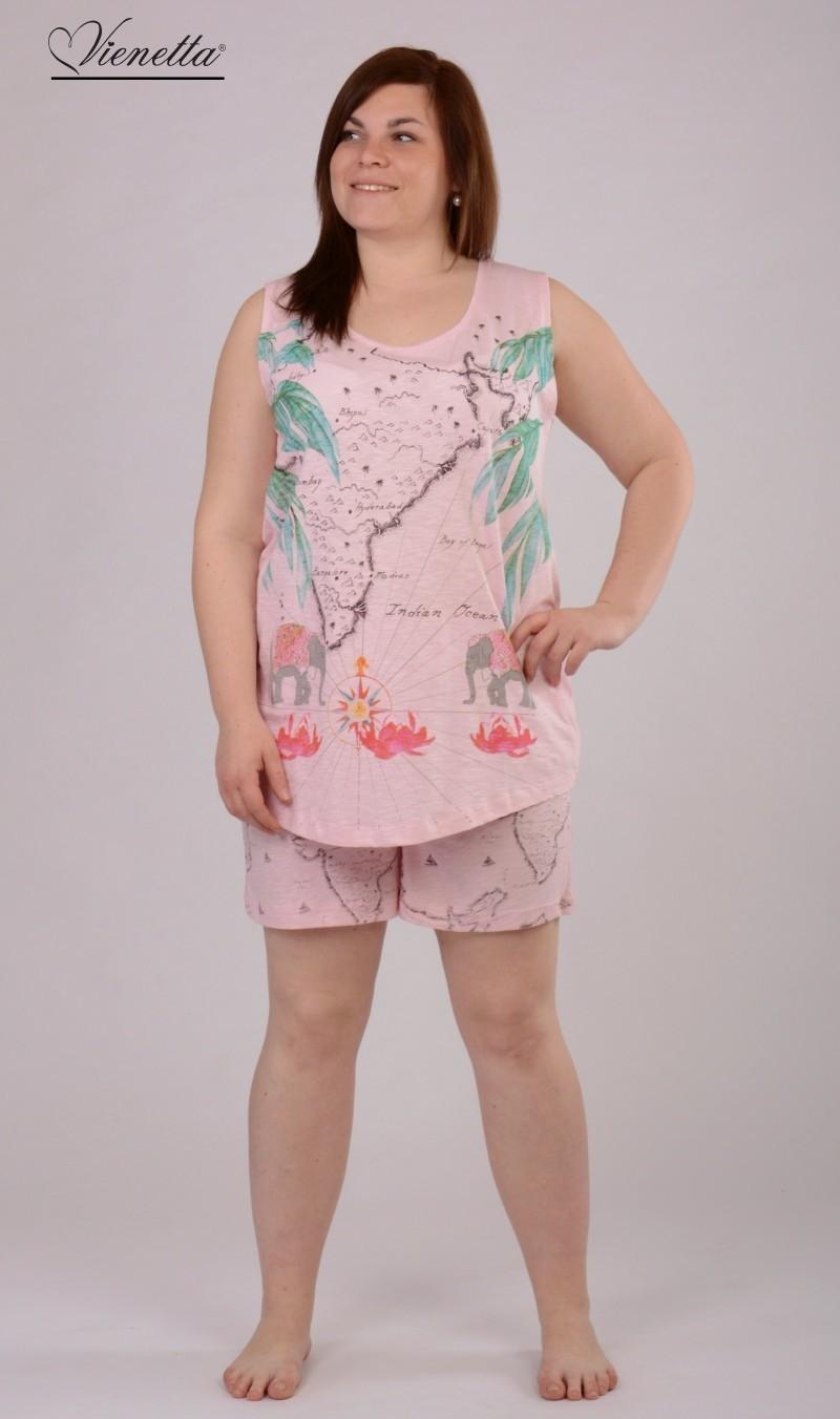 ec6cc02a33f4 Dámské pyžamo šortky nadměr Vienetta Secret Indian Ocean - Vienetta ...