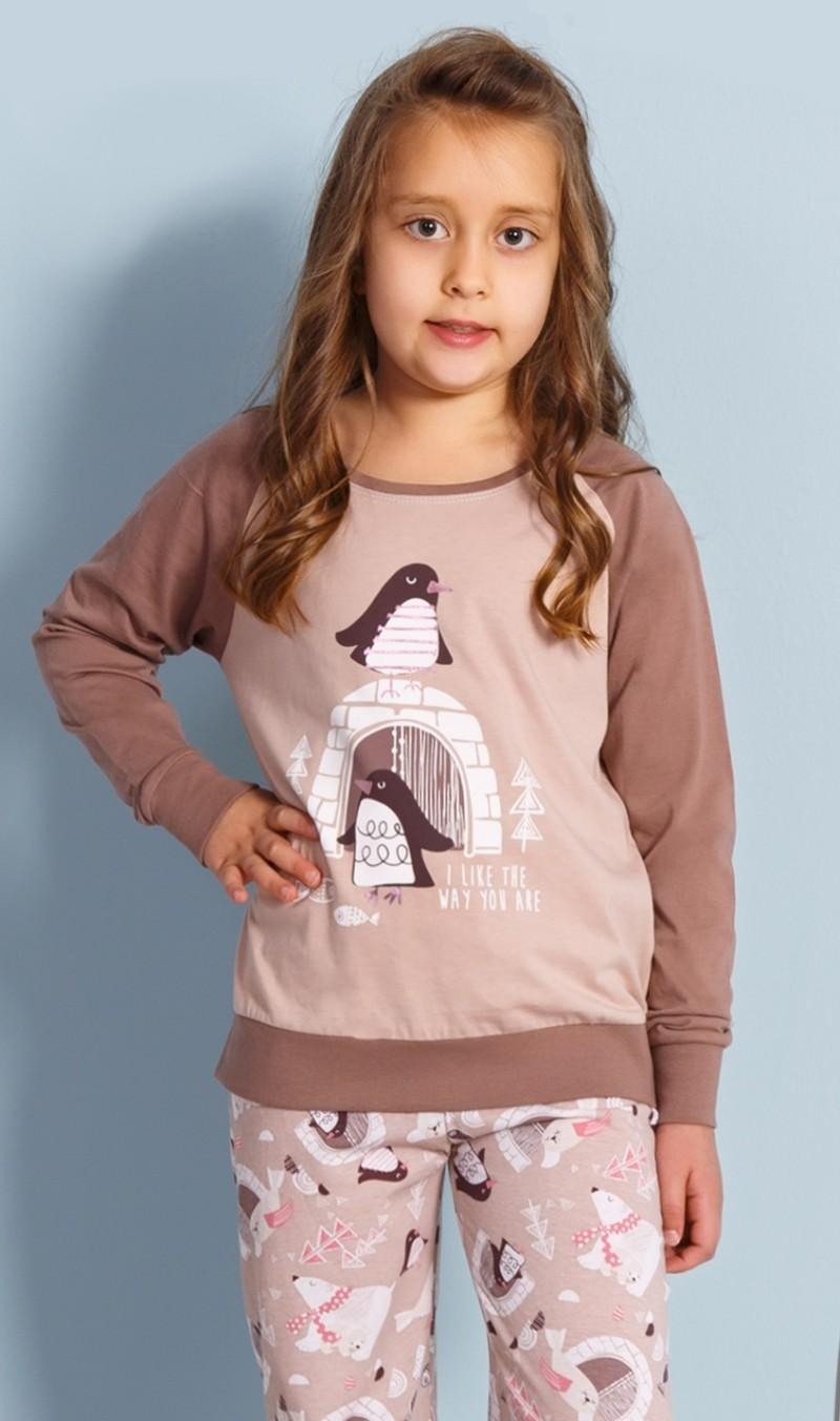 9bf33c53159d Dětské pyžamo dlouhé Vienetta Secret Tučňáci - Vienetta Secret (Dětské  pyžama