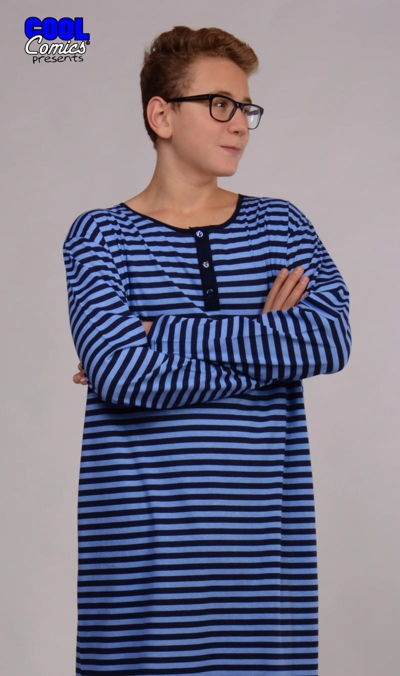 Pánská noční košile s dlouhým rukávem Vienetta Secret Adam ... aa0aa4fd16