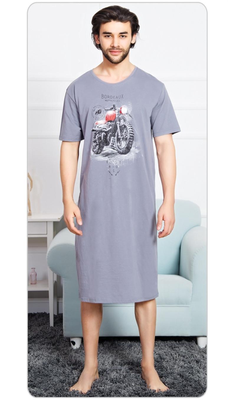 86e43eb3d8b Pánská noční košile s krátkým rukávem Vienetta Secret Motorka ...