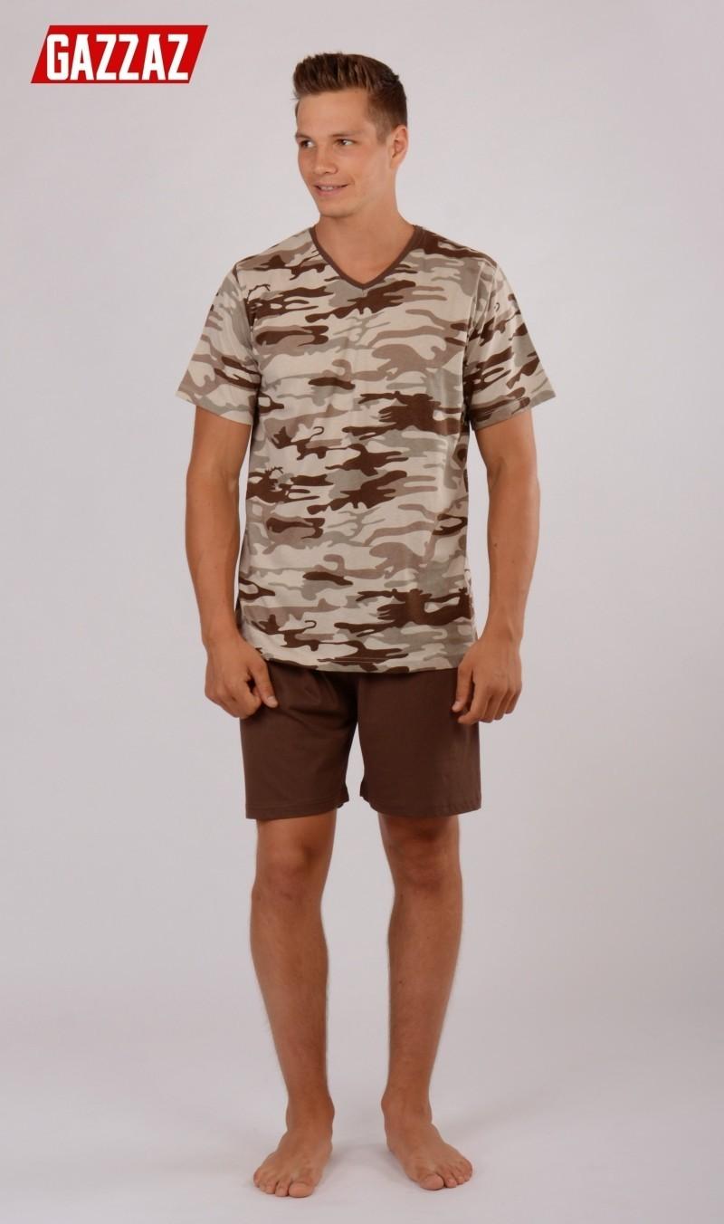 Pánské pyžamo šortky Vienetta Secret Army - Gazzaz (Pánské pyžama ... 93a0973eac