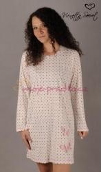 Dámská noční košile Vienetta Secret Puntíky a motýl výprodej