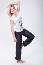 Dámské jeansové kalhoty O´STYLE 6230 prodloužené