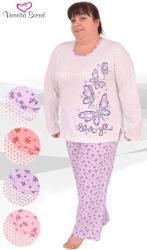 Dámské pyžamo dlouhé Vienetta Secret Motýl Love - výprodej