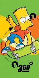 Dětská osuška Simpsons Bart skate