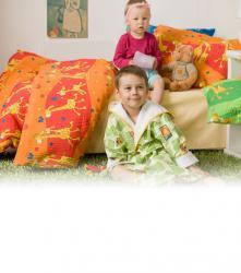 Dětské bavlněné povlečení - Žirafa červená