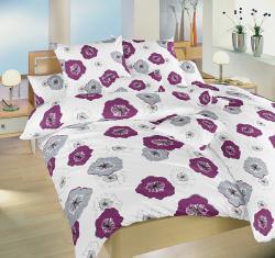 Ložní povlečení bavlna - Surfinie ostružinové