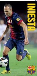 Bavlněná osuška DADKA FC Barcelona - Iniesta 75x150 cm