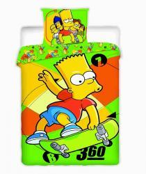 Bavlněné povlečení - Simpson - Bart skate