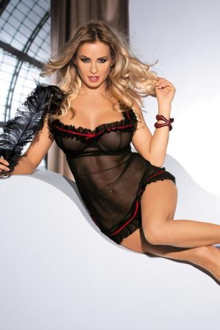 Dámská erotická košilka Avanua Lola černá