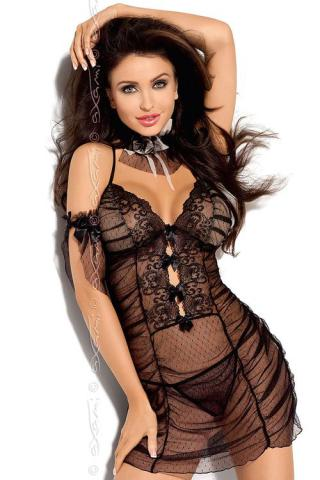 Dámská erotická košilka Axami V-5049 NIGHT ROSE