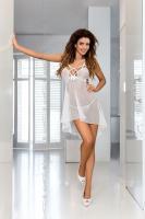 Dámská erotická košilka Axami V-6439 Bianco