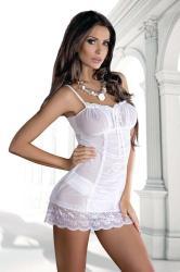 Dámská erotická košilka De Lafense 896 Nev Casandre white