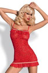 Dámská erotická košilka Obsessive Curacao červená