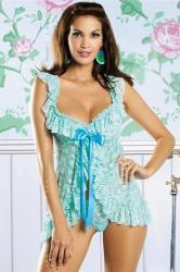 Dámská erotická košilka Obsessive Julia blue