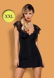 Dámská erotická košilka Obsessive Moketta chemise XXL