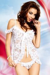 Dámská erotická košilka SoftLine Collection Erika bílá