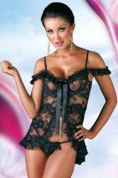 Dámská erotická košilka SoftLine Collection Erika black