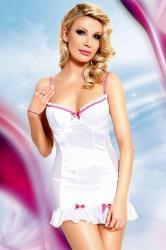 Dámská erotická košilka SoftLine Collection Lizzy white
