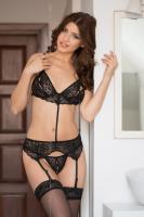 Dámská erotická souprava SoftLine collection Eliza černá