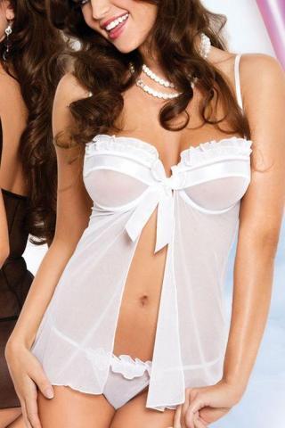 Dámská erotická souprava SoftLine Collection Nadine white
