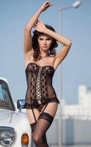 Dámská erotická souprava SoftLine Collection Valerie black