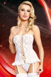 Dámská erotická souprava SoftLine Collection Valerie white