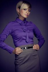 Dámská halenka FIGL M001 dark violet
