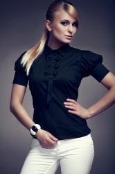 Dámská košile FIGL M008 black