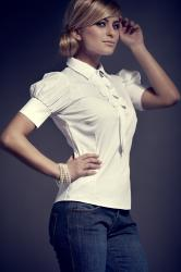 Dámská košile FIGL M008 white