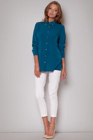Dámská košile FIGL M212 modrá