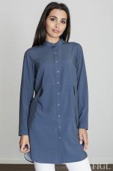 Dámská košile Figl M545 tmavě modrá