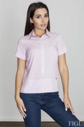 Dámská košile Figl M548 růžová
