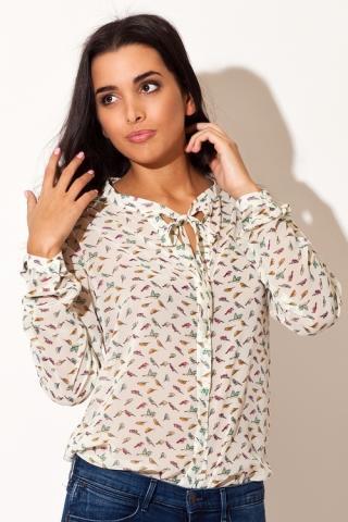 Dámská košile Katrus K135 krémová
