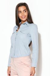 Dámská košile Katrus K171 světle modrá