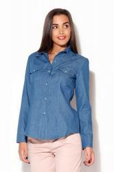 Dámská košile Katrus K171 tmavě modrá
