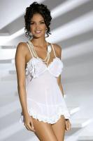Dámská košilka Obsessive Joanna chemise white + tanga