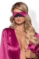 Dámská maska na oči Obsessive Satinia mask růžová