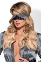 Dámská maska na oči Obsessive Satinia mask šedá