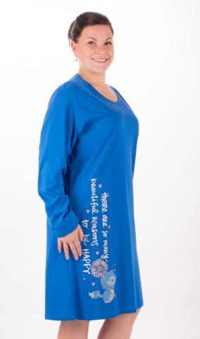 Dámská nadměrná noční košile Vienetta Secret Angela modrá