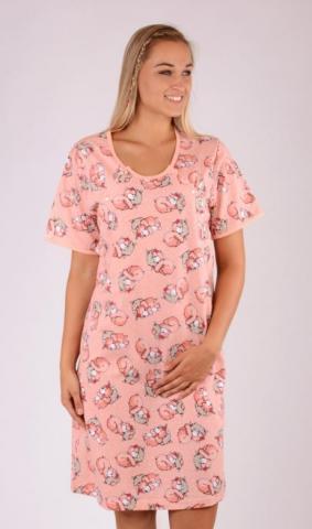 Dámská noční košile mateřská Vienetta Secret Méďa s polštářem