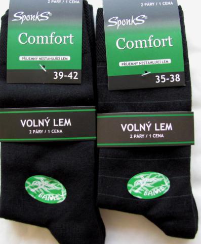 Dámské a pánské bambusové ponožky Sponks - 2 páry