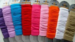 Dámské či dívčí návleky Design Socks jednobarevné