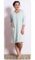 Dámské domácí nadměrné šaty Vienetta Secret Pláž