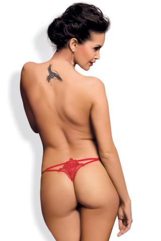 Dámské erotická tanga Obsessive Luiza thong červené