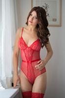 Dámské erotické body SoftLine collection Linda červené