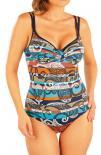 Dámské jednodílné plavky s hlubokými košíčky Litex 93398